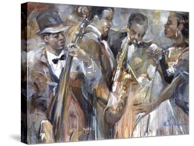 All About Jazz II-Marysia-Stretched Canvas Print