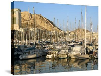 Harbour, Hotel Tryp Gran Sol, Alicante, Valencia Province, Spain-Guy Thouvenin-Stretched Canvas Print