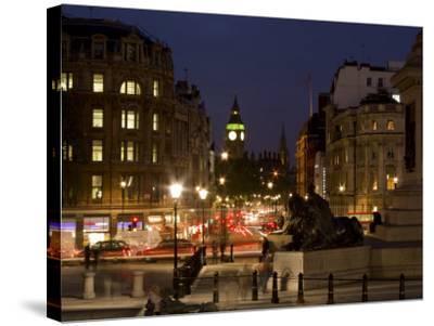 Big Ben and Whitehall from Trafalgar Square, London, England, United Kingdom, Europe-Charles Bowman-Stretched Canvas Print