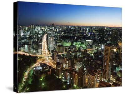 City Skyline View from Tokyo Tower, Tokyo, Japan, Asia-Christian Kober-Stretched Canvas Print