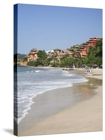 Playa La Ropa, Pacific Ocean, Zihuatanejo, Guerrero State, Mexico, North America-Wendy Connett-Stretched Canvas Print