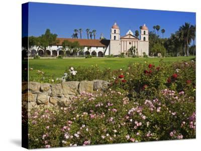 Old Mission Santa Barbara, Santa Barbara, California, United States of America, North America-Richard Cummins-Stretched Canvas Print