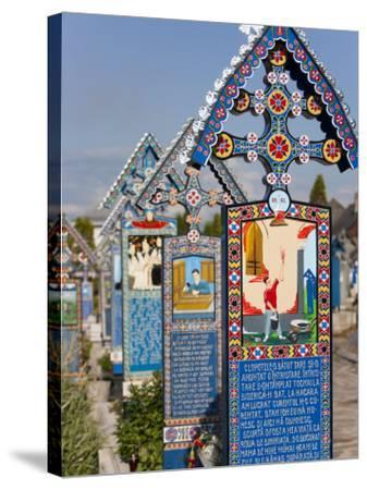 Merry Cemetery, Sapanta, Maramures, Romania, Europe-Marco Cristofori-Stretched Canvas Print
