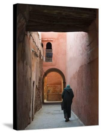 Street in the Souk, Medina, Marrakech (Marrakesh), Morocco, North Africa, Africa-Nico Tondini-Stretched Canvas Print