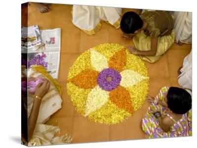 Onam Celebrations, Kerala, India-Balan Madhavan-Stretched Canvas Print