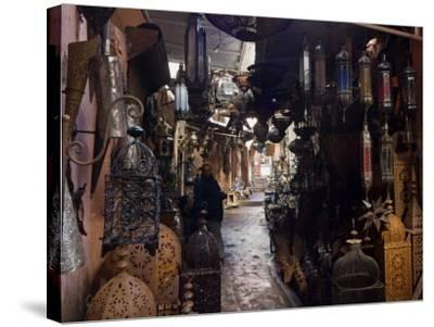 Souk, Marrakech (Marrakesh), Morocco, North Africa, Africa-Nico Tondini-Stretched Canvas Print