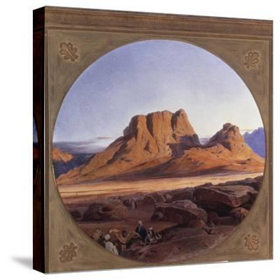 Mount Sinai, 1853-Edward Lear-Stretched Canvas Print