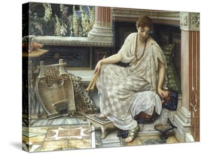 Chloe, Dulces Docta Modos et Citharae Ciens, 1893-Edward John Poynter-Stretched Canvas Print