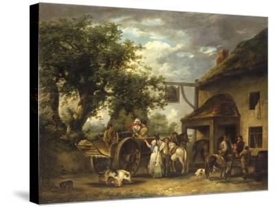 In Front of the Bell Inn, 1793-George Morland-Stretched Canvas Print