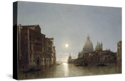 The Grand Canal by Moonlight-Henry Pether-Stretched Canvas Print