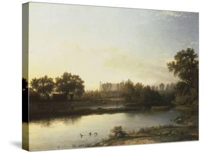 Eton from the River, 1818-Patrick Nasmyth-Stretched Canvas Print