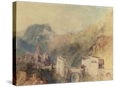 A Castle in the Val d'Aosta, Italy-J^ M^ W^ Turner-Stretched Canvas Print