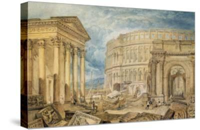 Antiquities of Pola, c.1818-J^ M^ W^ Turner-Stretched Canvas Print