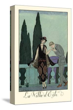 La Villa d'Este-Georges Barbier-Stretched Canvas Print