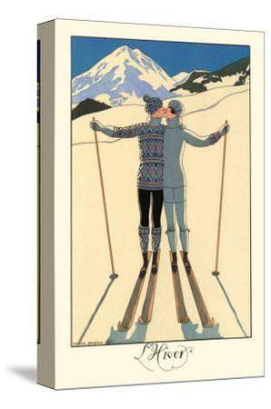 L'Hiver-Georges Barbier-Stretched Canvas Print