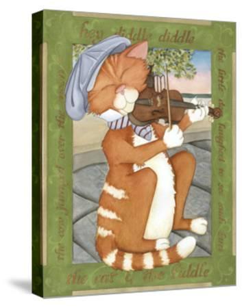 The Cat & The Fiddle-Tara Friel-Stretched Canvas Print
