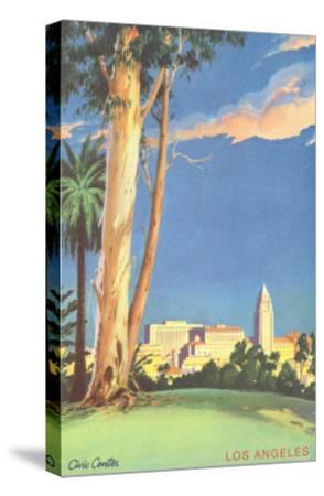 Civic Center, Eucalyptus, Los Angeles, California--Stretched Canvas Print