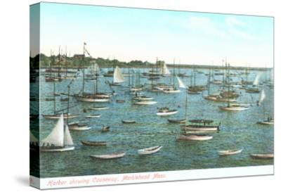 Harbor Showing Causeway, Marblehead, Mass.--Stretched Canvas Print