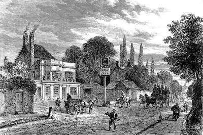 Engraving Showing the 'Bull and Last' Public House in Kentish Town, During the 19th Century--Stretched Canvas Print