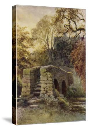 Haddon Hall, Derbyshire : Dorothy Vernon's Bridge--Stretched Canvas Print
