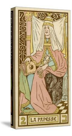La Papesse - Tarot Card Depicting Pope Joan--Stretched Canvas Print
