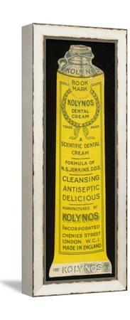 Kolynos Trade Card--Framed Stretched Canvas Print