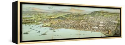 Salonica - Greece--Framed Stretched Canvas Print