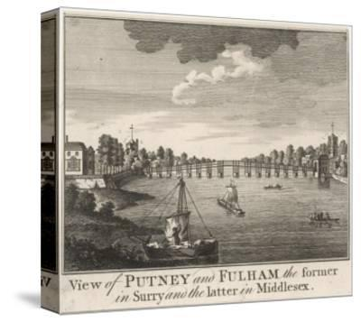 The Bridge Linking Fulham in Middlesex with Putney in Surrey--Stretched Canvas Print