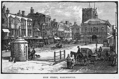 The High Street, Marlborough, Wiltshire--Stretched Canvas Print