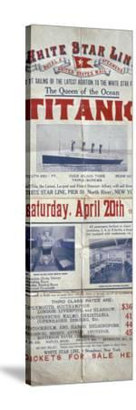Titanic Poster--Stretched Canvas Print