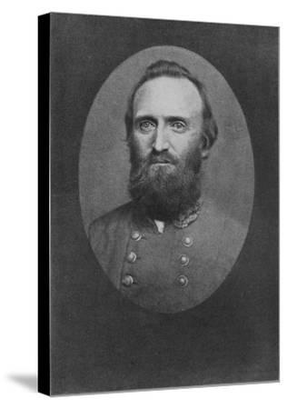 Stonewall Jackson Photo--Stretched Canvas Print