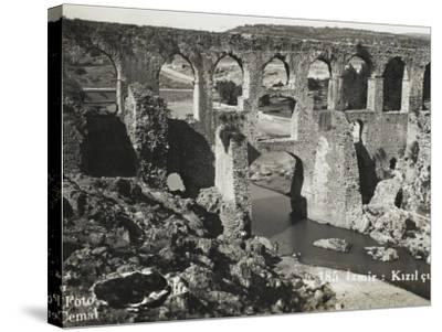 The Roman Aqueduct at Izmir (Smyrna), Turkey--Stretched Canvas Print