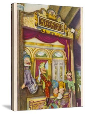 Tournai, Belgium Traditional Guignol De La Maison Tournaisienne (Puppet Theatre)--Stretched Canvas Print