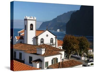 Village Church at Ponta Delgada, Madeira--Stretched Canvas Print