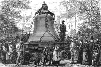 Transporting the Great Bell to St.Paul's Cathedral, 1882--Stretched Canvas Print