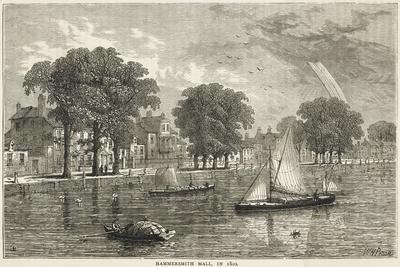 The Thames at Hammersmith Mall--Stretched Canvas Print