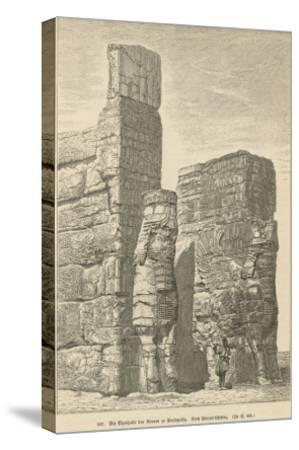 Xerxes Palace, Persepolis--Stretched Canvas Print