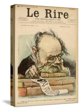Emile Zola, French Novelist--Stretched Canvas Print