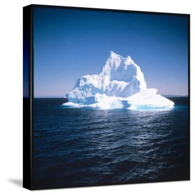 A Floating Iceberg in Disko Bay at Qeqertarsuaq (Godhavn), Greenland--Stretched Canvas Print