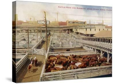 Chicago Stockyards--Stretched Canvas Print