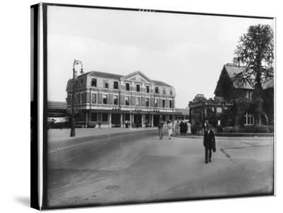 Great Western Railway Station Newton Abbot Devon--Stretched Canvas Print