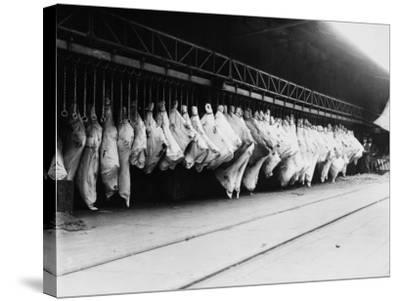 Meat in Storage, World War I-Robert Hunt-Stretched Canvas Print