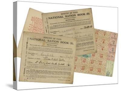 Rationing National Ration Books from the Ministry of Food--Stretched Canvas Print