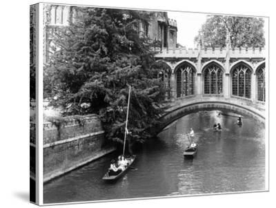 Punting at Cambridge-Henry Grant-Stretched Canvas Print
