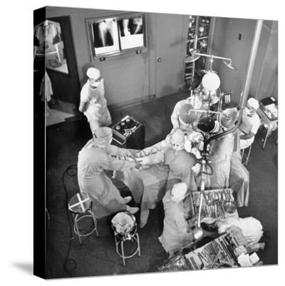 An Artifical Hip Joint Surgery-Al Fenn-Stretched Canvas Print