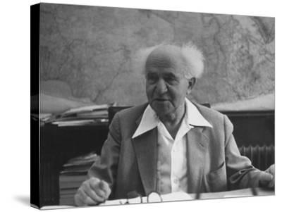 Israeli Prime Minister David Ben-Gurion-Gjon Mili-Stretched Canvas Print