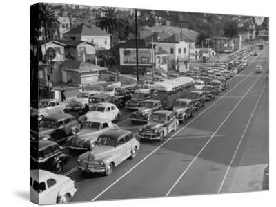 Los Angeles Traffic-Loomis Dean-Stretched Canvas Print
