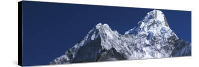 Detail of Snow-Covered Peaks of Ama Dablam-Jeff Foott-Stretched Canvas Print