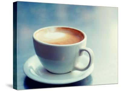 Cappuccino Cup with Foam--Stretched Canvas Print