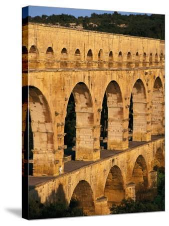 France - Gard - Pont Du Gard - Roman Aqueduct on Gardon River (19 Back--Stretched Canvas Print